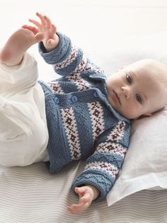 Debbie Bliss knitting patterns, Debbie Bliss Baby Cashmerino 5, Fair Isle Cardigan, from Laughing Hens