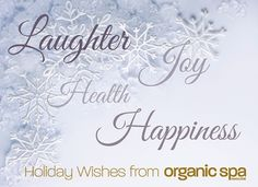 Holiday Wishes from Organic Spa Magazine