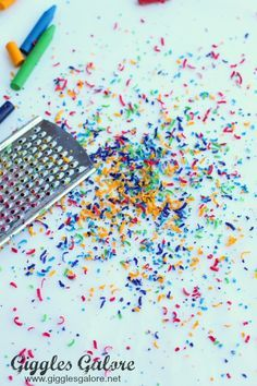 Wax Paper Melted Crayon Art                                                                                                                                                     More