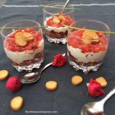Tiramisu salé à la tomate et au boursin - Les recettes de sandrine au companion ou pas