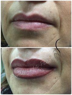 Contorno labbra con sfumatura - pigmenti Biotek