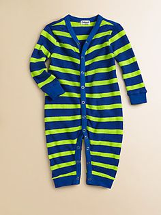 Splendid Boy's Striped Neon Playsuit
