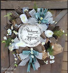 Grapevine Wreath, Burlap Wreath, Deco Mesh Wreaths, Grape Vines, Neutral, Tulle, Etsy Shop, Home Decor, Decoration Home