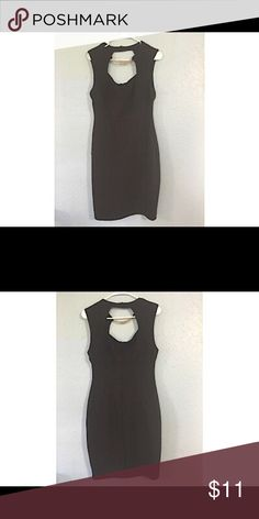 BISOU BISOU Black dress Sleevless. Has a metallic neck embelishment. Used Bisou Bisou Dresses Midi