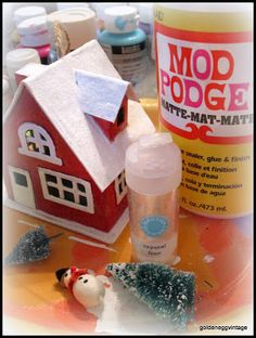 Make your own Putz houses from Golden Egg Vintage