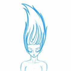 Rough - Hair Animation in Toon Boom Harmony.
