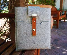 Macbook 13 inch case 100% German Merino Wool Felt 3mm thick. $70.00, via Etsy.
