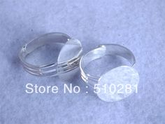 K-0331  #14mm Round Tray Base Sunny Silver Plated ring settings Jewelry findings 200pcs/lot $71.35