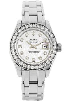 Rolex Ladies Pearlmaster 18K White Gold Watch