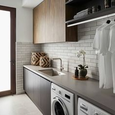 Interior and Exterior Designs & Ideas Pantry Laundry Room, Laundry Room Layouts, Laundry Room Remodel, Laundry Room Organization, Laundry In Bathroom, Laundry Cabinets, Laundry Area, Laundy Room, Modern Laundry Rooms