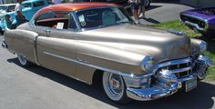 1953 Cadillac Coupe - Gold with Red Top - Side Angle