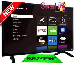 "Smart TV HD 32"" LED 720P HDTV RCA Flat Screen Monitor HDMI USB Slim Bezel New #RCA"