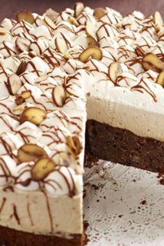 Maronen-Nougat Torte Nougat Torte, Fondant, Bakery, Deserts, Marzipan, Recipes, Irene, Donuts, Muffins