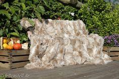 Echte Felldecke aus Toscana Lammfell