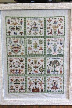HAANDARBEJDETS FREMME Kalender 1961 (愛のカレンダー)