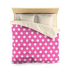 HOT PINK POLKA Dot Girls Duvet Bedding Bedroom Decor