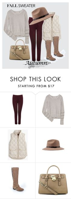 """""""Fall sweater"""" by shellyjolley ❤ liked on Polyvore featuring M&Co, T By Alexander Wang, J.Crew, UGG and MICHAEL Michael Kors"""