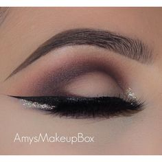 """A soft glitter smokey eye!  1. I went in with @makeupgeekcosmetics #makeupgeekcosmetics 'bitten' and @maccosmetics 'Swiss chocolate'  2. I used…"""