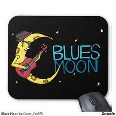 Blues Moon Mouse Pad