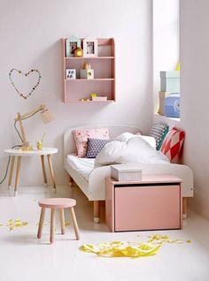 mommo design: SLEEP PINK tabouret et table pieds lit Casa Kids, Ideas Dormitorios, Cute Room Ideas, Teen Girl Bedrooms, Teen Bedroom, Bedroom Modern, White Bedroom, Kids Decor, Home Decor