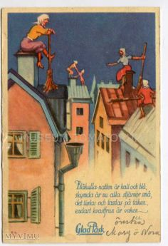 "The Scandinavian Easter Witch..""Glad Paaske "" / ""Happy Easter"" postcard"