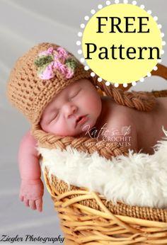 Crochet Rapunzel Baby Hat Free Pattern by Katie's Crochet Goodies