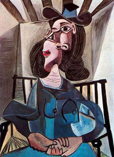 PICASSO Pablo - jeune fille sur une chaise - 1952