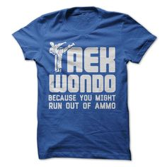 Do you practice Taekwondo? Show your skills with this shirt!