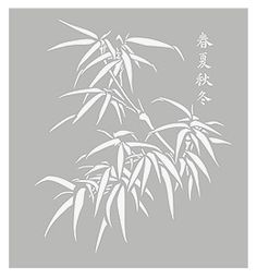 Large Bamboo Stencil Large Chinese Bamboo Stencils