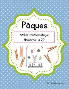 Atelier mathématique (jeu) - Pâques