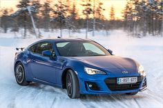 The revised Subaru BRZ in the winter test - All About Automotive