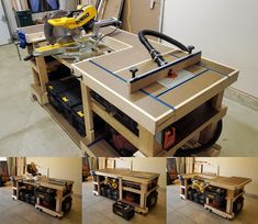 I built a router table insert for my convertible saw station/modular workbench. It replaces the table saw on the short end of the workbench (Gallery in comments). Build A Router Table, Router Table Insert, Table Saw Workbench, Workbench Plans Diy, Woodworking Bench Plans, Woodworking Shop, Woodworking Projects, Garage Atelier, Wood Shop Projects