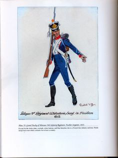Foreign Troops: Plate 79: Grand Duchy of Warsaw, 9th Infantry Regiment, Fusilier Sergeant, 1812.