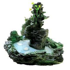 Mini Waterfall, Garden Waterfall, Waterfall Fountain, Small Water Gardens, Back Gardens, Decorative Water Fountain, Yard Sheds, Water Effect, Fairy Furniture