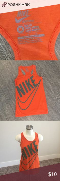NIKE sportswear Tank Nike Sportswear- Slim Fit Active Tank. Size medium. Racerback style. In great used condition. Slight wash wear. See up close pictures. Nike Tops Tank Tops