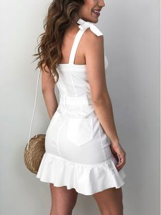 Vestido-Peplum-Fernanda Casual Outfits, Summer Outfits, Cute Outfits, Summer Dresses, Sewing Clothes Women, Retro Look, Little Dresses, Casual Looks, Passion For Fashion
