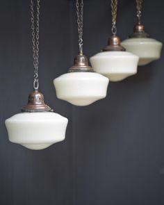 Quartet Of Opalines , Antique Lighting, Drew Pritchard