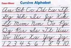 Learn More At Zaner Bloser Cursive Letters Chart Alphabet Printable Handwriting