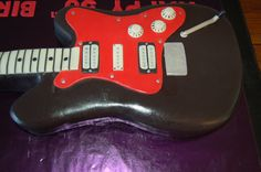 Electric Guitar Celebration birthday cake by Lovemuffins by Clair