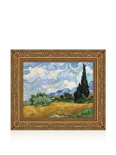 50% OFF Vincent van Gogh Wheat Field with Cypresses, 1889 Framed Canvas