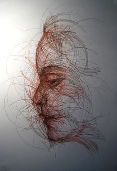"Saatchi Online Artist: Joseph Vassie; Pen and Ink, 2012, Drawing ""CD Portrait"""