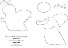 Paper Piecing Angel Template