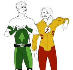 Wally West and Artemis Crook by murrmernator this side of ordinary