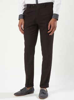 Berry Brushed Skinny Trousers