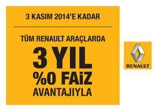 Şimdi tüm Renault'lar 3 yıl vadeli %0 faiz fırsatıyla! Renault'nun benzersiz teknolojileriyle tanışın diye sizi de Abc'ye bekliyoruz.