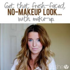 Fresh Faced No Make Up Look With Make Up  #howdoesshe #freshface #makeuptips #makeup #cleanface  howdoesshe.com