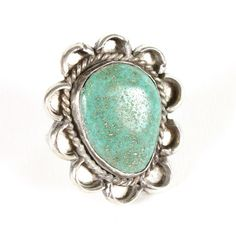 Turquoise Flower Ring.