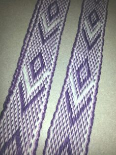"Handwoven Guitar Strap, Acoustic Guitar Strap, Electric Guitar Strap, Banjo Strap, Bass Strap, Purple, Lavender, white, 1 1/4"", adjustable  Some of the uses for inkle bands are purse straps, belts, hat bands, camera straps, key fobs, dog leashes, dog and cat collars, lanyards, guitar straps, trim for SCA or Renn Faire clothes and handfasting bands.   Handwash, air dry.  If you see something you li"