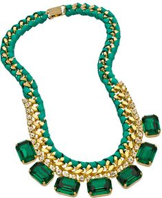 Sara Designs Teal Green Crystal Necklace on shopstyle.com