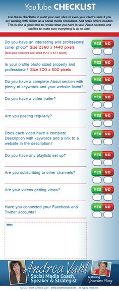 #YouTube Checklist — #Infographic #socialmedia